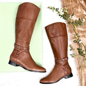 NWT! Clarks Artisan Leather Knee High Riding Boots